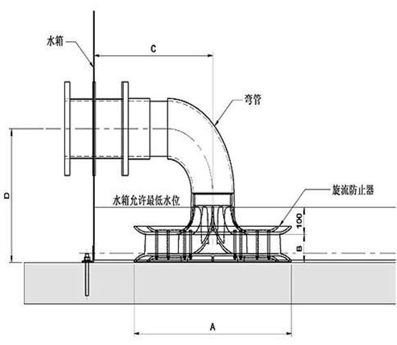 旋流防止器尺寸结构